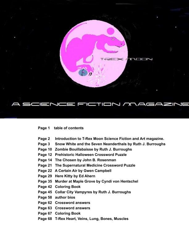 View T-Rex Moonzine Pink Halloween re-issue by Ruth J Burroughs