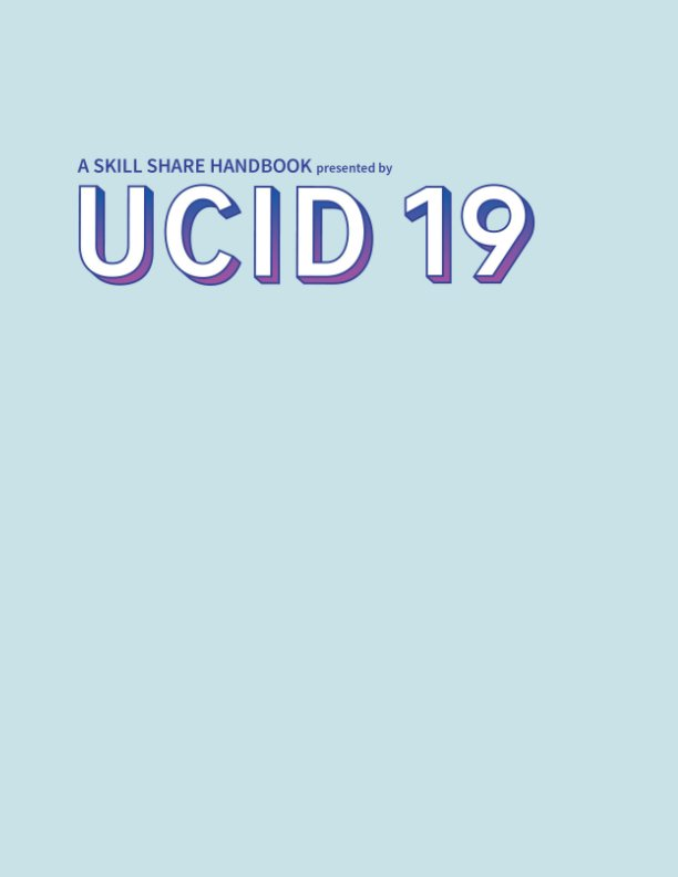 View UCID19 Tip Book by Class of 2019