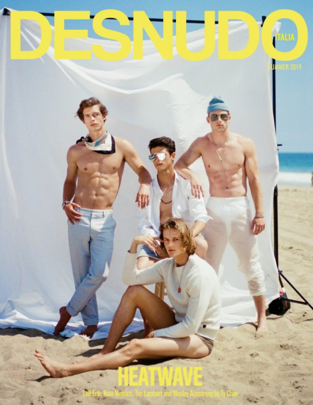 View Desnudo Magazine Italia Issue 3 - Leif, Nate, Tim and Wesley Cover by Desnudo Magazine Italia