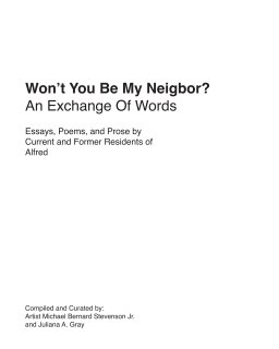 Won't You Be My Neighbor? book cover