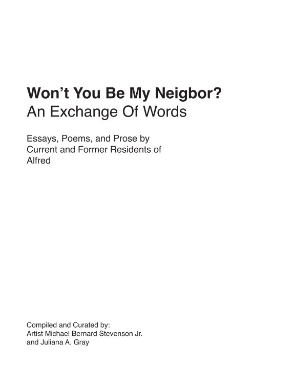View Won't You Be My Neighbor? by Stevenson Jr. et al.