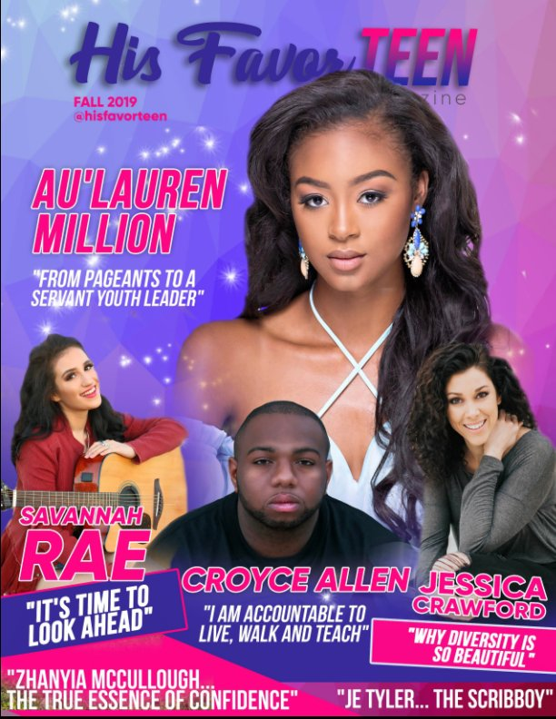 View His Favor TEEN Fall Issue 2019 by His Favor Ministries LLC
