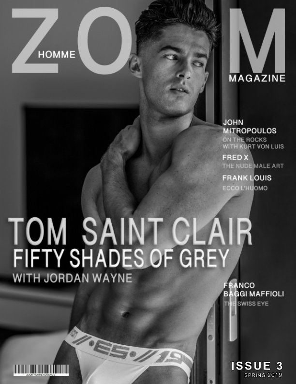 View ZOOM HOMME issue three BW Cover by Tom saint Clair