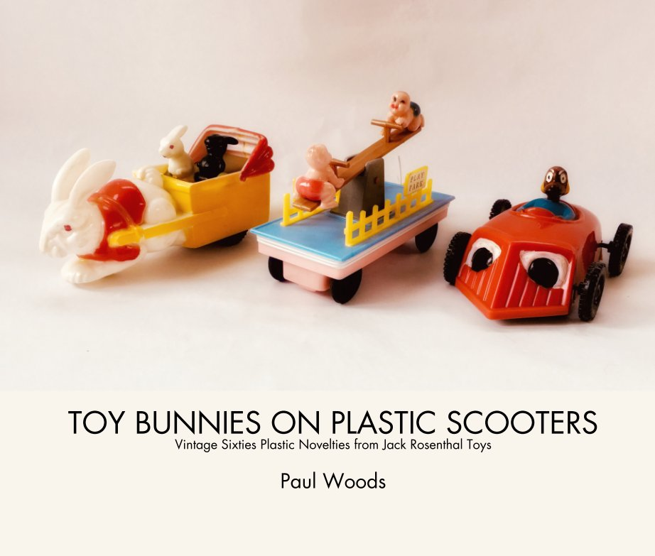 View TOY BUNNIES ON PLASTIC SCOOTERS Vintage Sixties Plastic Novelties from Jack Rosenthal Toys  Paul Woods by Paul Woods