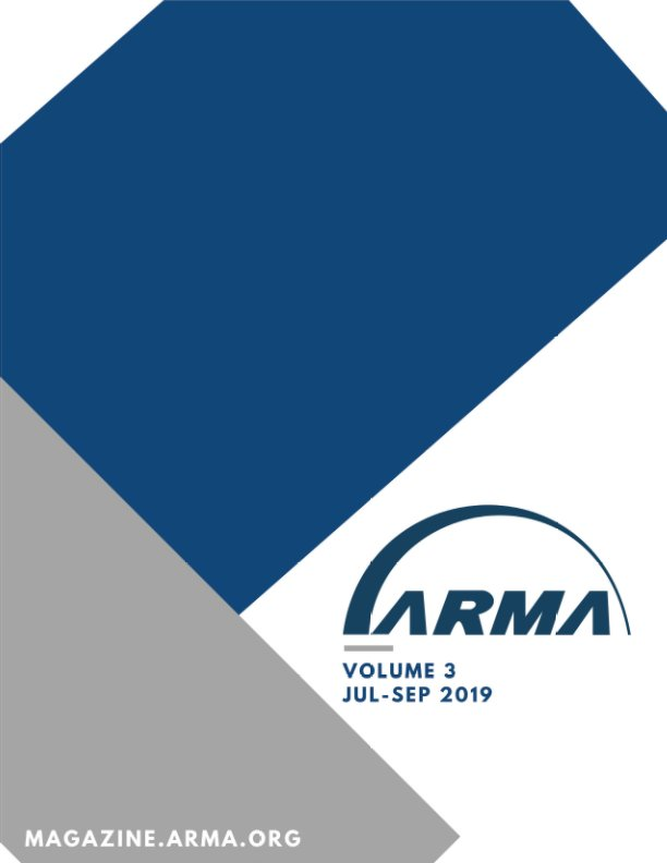 View ARMA Magazine 2019, Issue 3 by ARMA International