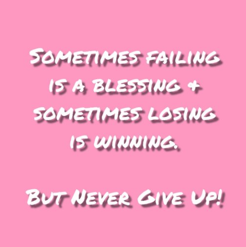 View Never Give Up! Journal #1 by Felicia V. Bland