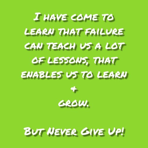 View Never Give Up! Journal #6 by Felicia V. Bland