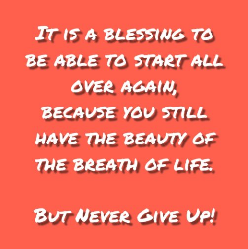 View Never Give Up! Journal #7 by Felicia V. Bland