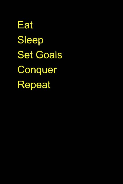View Eat Sleep Set Goals Conquer Repeat lined Journal by Marcus Cervantes