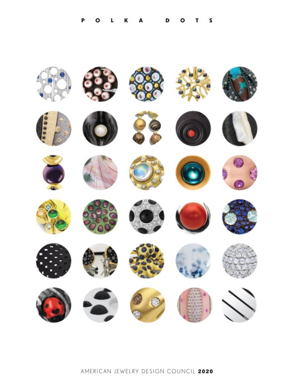 View American Jewelry Design Council 2020 Polka Dots by AJDC