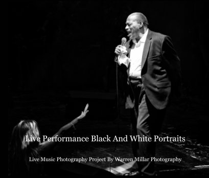 Live Performance Black And White Portrait