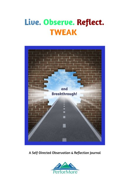 View Live. Observe. Reflect. Tweak and Breakthrough Journal by Andrea Raggambi