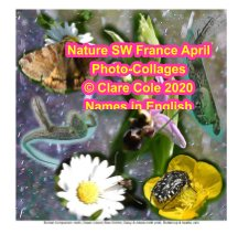 Nature SW France April Photo-collages, Names in English book cover