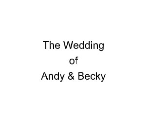 The Wedding of Andy and Becky book cover