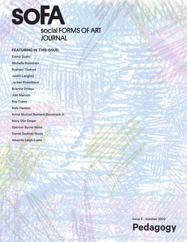 View Social Forms of Art Issue #5 by PSU Art and Social Practice