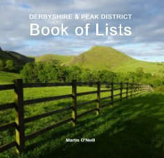 DERBYSHIRE AND PEAK DISTRICT Book of Lists book cover