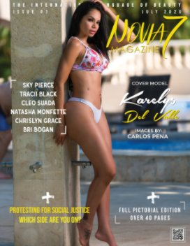 Novia7 Magazine Issue #1 ft Cover Model Karelys Del Valle book cover