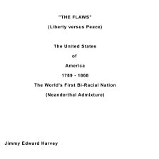 """""""THE FLAW (Liberty versus Peace) book cover"""