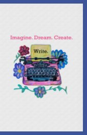 Cute Pink Typewriter Journal book cover