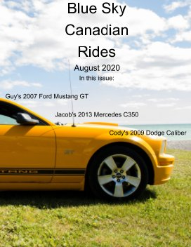 Blue Sky Canadian rides - August 2020 book cover