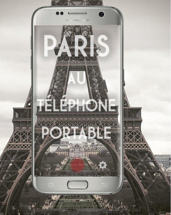 View Paris au téléphone portable by Jean-Marc Fiorese