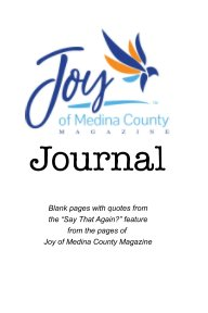 Joy of Medina County Magazine Journal book cover