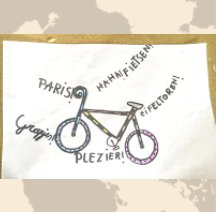 2020 Met de fiets naar Parijs book cover