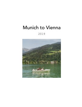 Munich to Vienna 2019 book cover