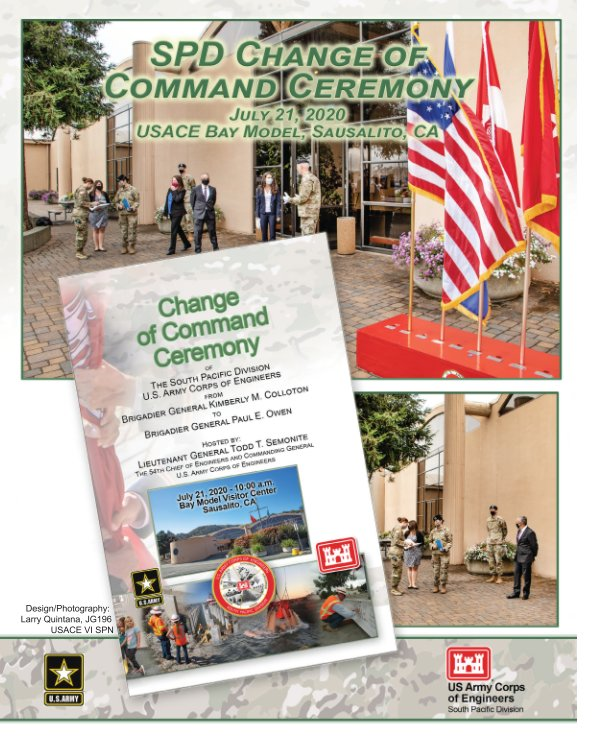 View Change of Command Ceremony, South Pacific Division by Larry Quintana