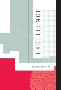 2021 Excellence Agenda Sketchbook - Red book cover