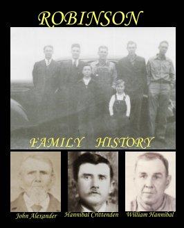 Robinson Family History book cover