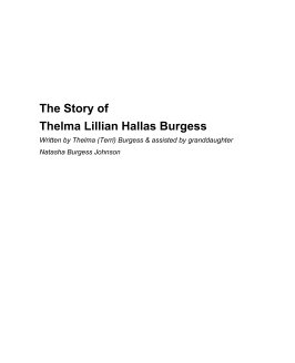 The Story of Thelma Burgess book cover
