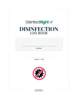 Disinfection Log Book book cover