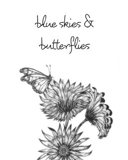 blue skies and butterflies book cover