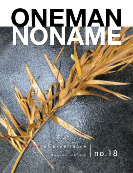 oneman noname - a record of experience 18 book cover