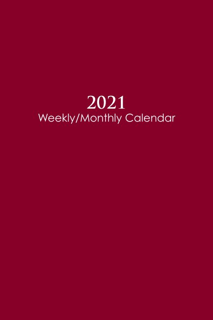Ver 2021 Sunday Start Weekly and Monthly Calendar and Planner por marcn