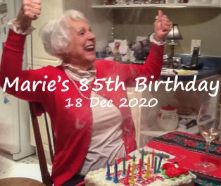Marie's 85th Birthday book cover
