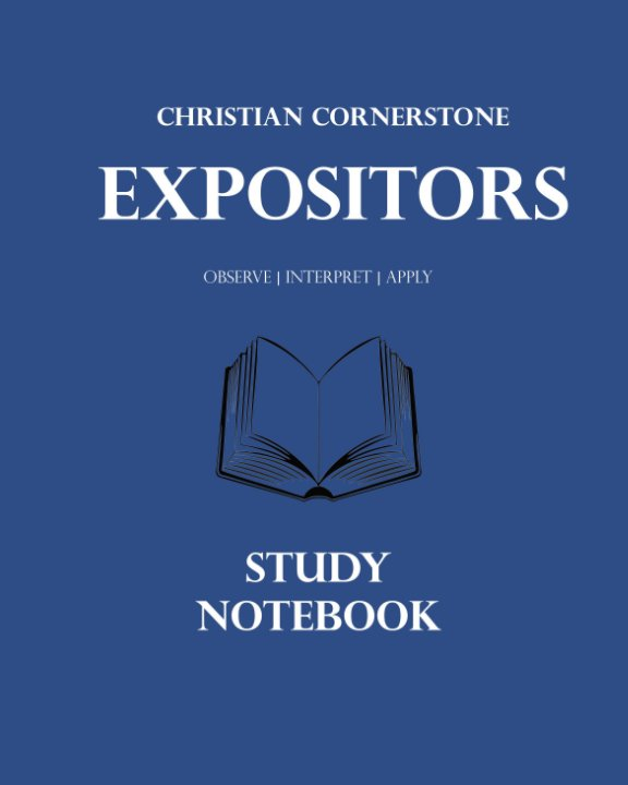 View Expositors Study Notebook by Bill Ricksecker