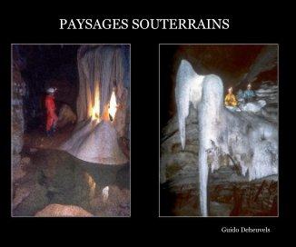 Paysages souterrains book cover