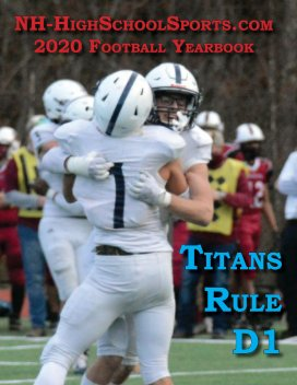2020 Nashua North Football Yearbook book cover