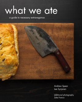 what we ate book cover