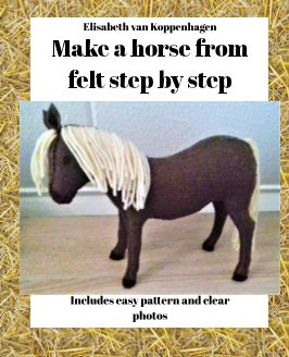 Make a horse from felt step by step book cover