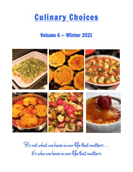 Culinary Choices - Winter 2021 book cover