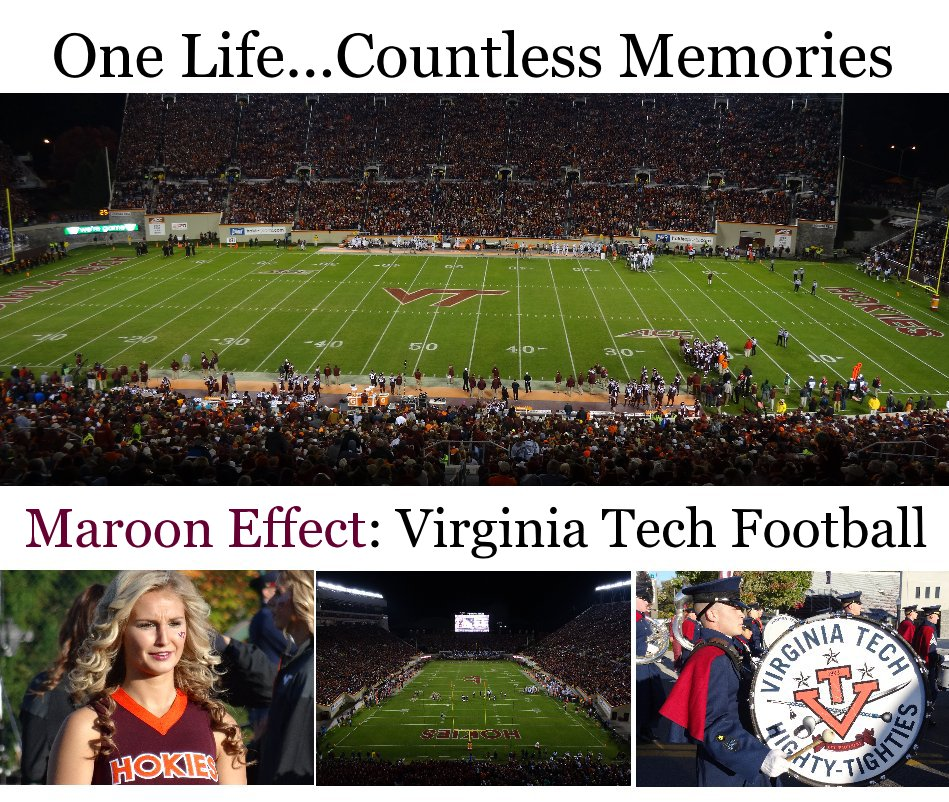 View Maroon Effect: Virginia Tech Football by Chris Shaffer