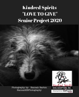 """Kindred Spirits """"Love to Give"""" Seniors Project 2020 book cover"""