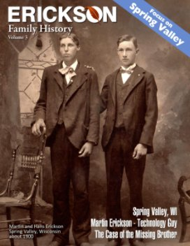 Erickson History - Spring Valley, WI book cover
