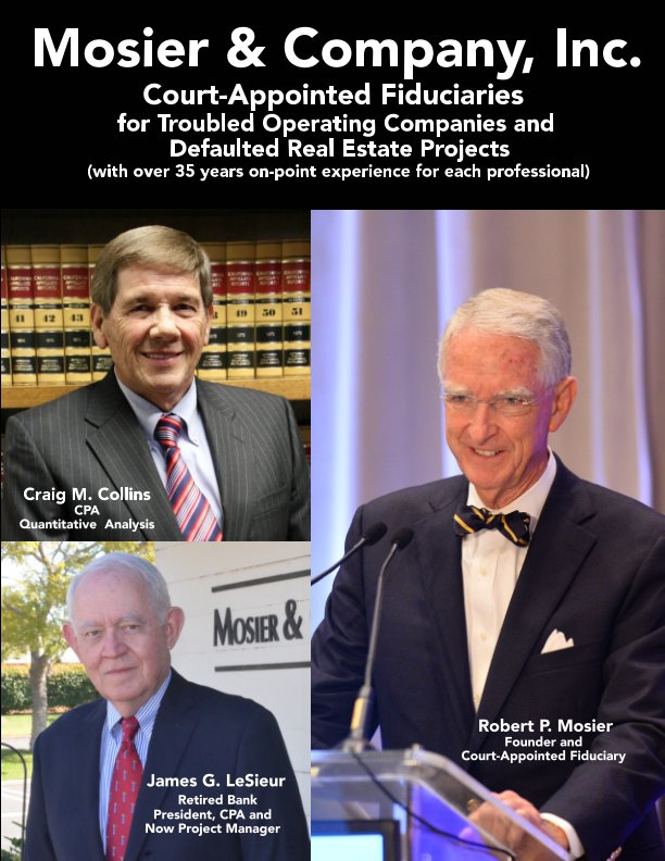 View Mosier and Company Inc Court Appointed Fiduciaries by Robert P. Mosier