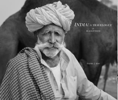 India: A travelogue in Black and White book cover