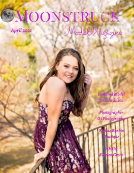 Moonstruck Model Magazine April  2021 book cover