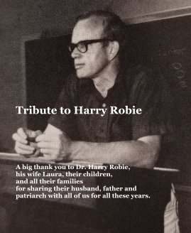 Tribute to Harry Robie book cover
